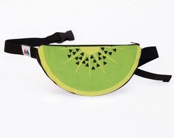 Kiwi Bumbag. Kiwi fanny pack. Tropical bag. Kiwi purse. Fun accessory. Fruit.