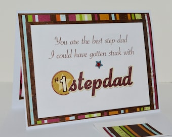 Father's Day Stepdad - Happy Father's Day Stepdad - Handmade Father's Day Card - Stepdad Father's Day Card