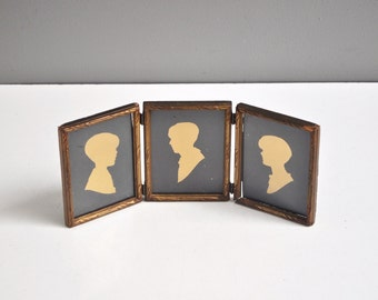 Antique Framed Silhouette Trio