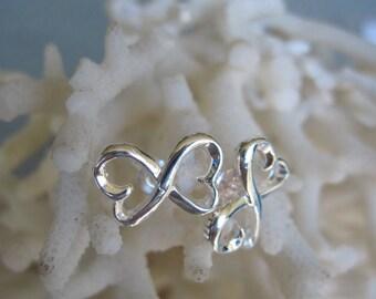 Petite Sterling Silver Infinity Stud Earrings