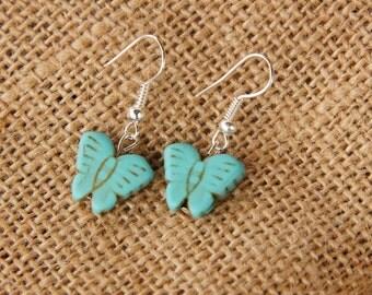 Turquoise Butterfly Earrings