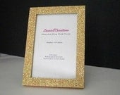 GOLD/ANTIQUE GOLD Glitter Picture Frame - Decorative,Super Sparkling Octagon/Prisma Glitter-for 4 x 6 or 5 x 7 photos or info
