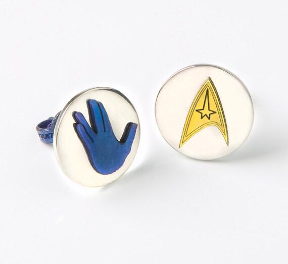 Star Trek Earrings Pop Culture Geekery Nerd Earrings Post