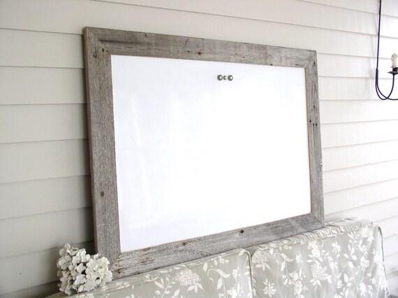 Dry Erase Whiteboard Barnwood Frame Magnetic Bulletin Board