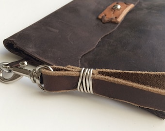 Katie Clutch . Handmade Leather Clutch . Leather Purse . Handstitched Leather . Leather Bag