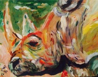 Rhinoceros // rhinoceros portrait