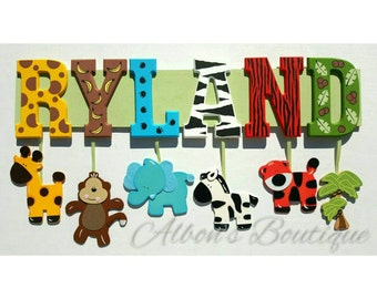 9 Letter Any Theme Custom Name Sign By Albonsboutique On Etsy