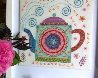 Teapot Embroidery Kit