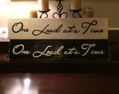 ONE LOAD at a TIME Laundry Room Chic Farmhouse Country Home Sign Plaque Wooden You Pick Color