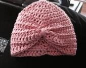 Pink Baby Turban in Newborn size -custom order for Rebecca