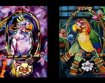 Tiki Bird Print