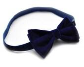 Royal Blue Velvet Mens bow tie Velvet bow tie - Mens bowtie - Pre tied bow tie - Preppy bow tie