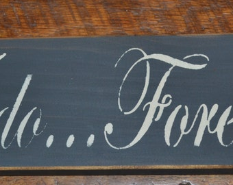 Primitive Rustic Wooden Romance Wedding Sign