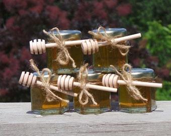 Rustic Wedding Honey Favors,  24 pcs. FRESH HONEY
