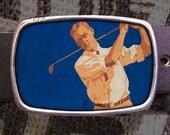 Golfer Belt Buckle, Vintage Inspired, Retro Cool 563
