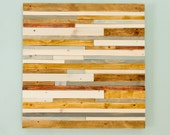 "Wood Wall Art Rustic 20"" x 20"" industrial reclaimed wall sculpture, Promotion"