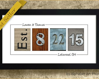 PERSONALIZED WEDDING GIFT - Framed Wedding Sign, Gift for Bride, Personalized Wedding Sign