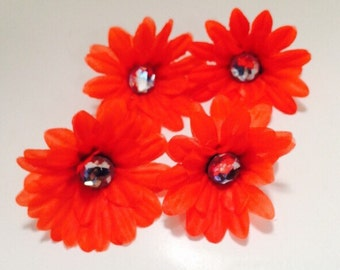Red 2 inch Gerber Daisy(set of 4)was 1.10