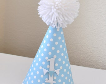 Boy's Classic 1st Birthday Hat, Party Hat, 1st Birthday, Boy's Birthday Hat