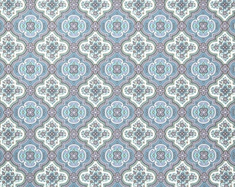 Retro Wallpaper by the Yard 70s Vintage Wallpaper - 1970s Purple Blue and White Geometric