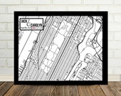 Central Park Map Art Central Park Engagement Gift New York City Engagement Art Poster Print Central Park Wedding Central Park Love