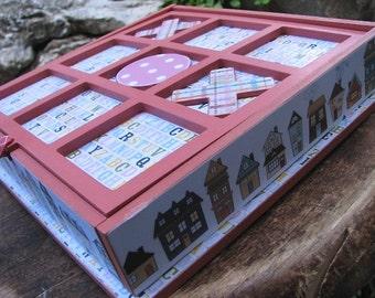 Tic Tac Toe Game Box - Coral