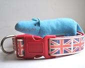 Dog Collar - Vintage Union Jack -  50% Profits to Dog Rescue
