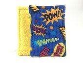 100% Cotton Washable Sponge Set of 2 -Comic