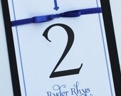 Classy Cross Boy Baptism-Communion Table Number Cards
