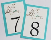 Love Birds Table Numbers - Private Listing