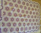 Beautiful Grandmothers Flower Garden Quilt