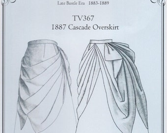 TV367 - Truly Victorian #367, 1887 Cascade Overskirt Sewing Pattern