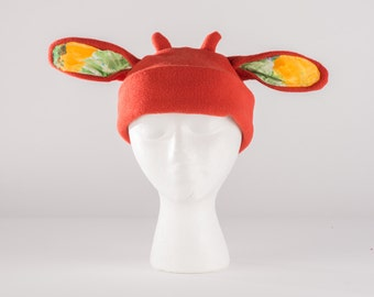 Brick orange cow ears hat