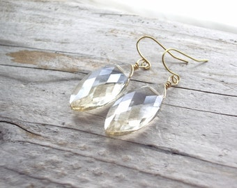 gold marquise crystal earring bridesmaid bridal party and gold dangle earrings