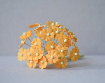 10  mm 20  Orange Mulberry Paper  Flower
