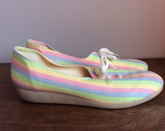 Vintage Rainbow Shoes