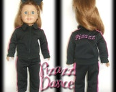 "18"" American Girl Doll Cheer Dance Warm-Up Outfit Set"