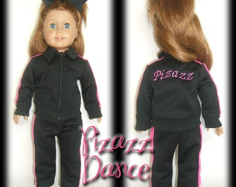 """18"""" American Girl Doll Cheer Dance Warm-Up Outfit Set"""