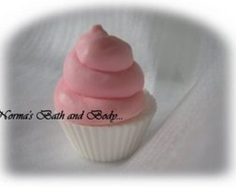 raspberry kids ice cream cupcake soap