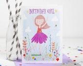 Birthday Girl Card, Happy Birthday Card - Free Postage