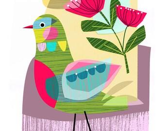 LATE SPRING, bird, Ellen Giggenbach, print