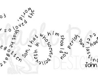 John 3:16 Love Vinyl Decal