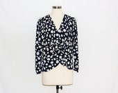 Vintage Large Polkadot Wrap Over Blouse