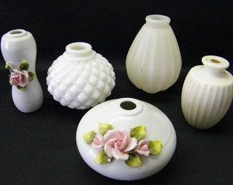 Vintage Porcelain Ceramic and Glass Table Lamp Spacer Parts  for Lamp  Repair or Repurpose