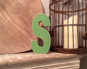 Stock Clearance - Sold As Is - Wooden Letters - letter S