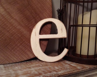 Stock Clearance - Sold As Is - Wooden Letters - Letter e - 5""