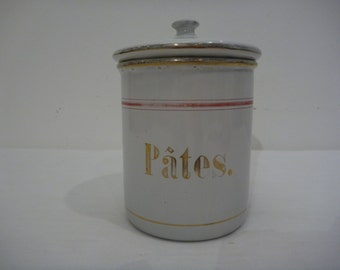 French Enamel Cannister