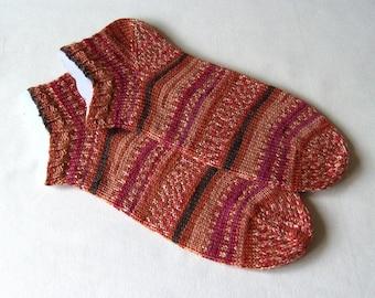 hand knit women sports socks athletic socks trainer socks sneaker sock travel socks size 5-6 Uk 7-9 US 38-39EU