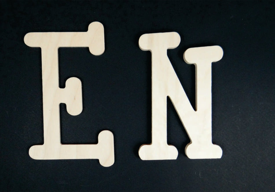 Thick wooden letters and numbers 3 4 inch for 3 inch wooden letters