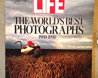 Vintage Life Magazine Collector's Edition, The World's Best Photographs, 1980-1990, Winter 1990, Gift for Him, Gift for Her, Christmas